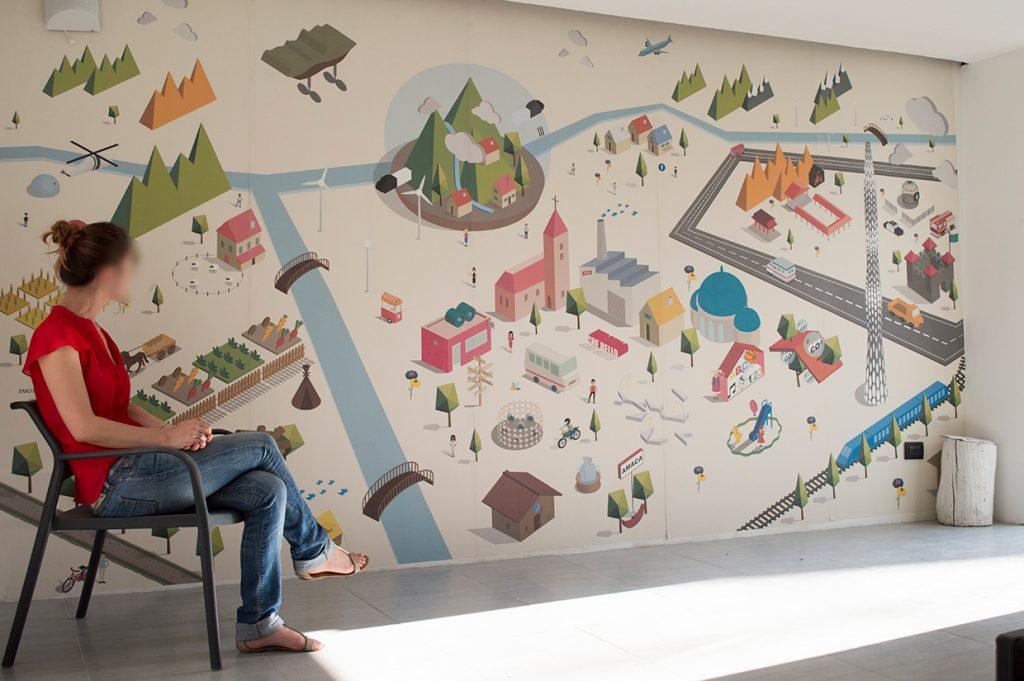 Farm Cultural Park interpreta il wallcovering