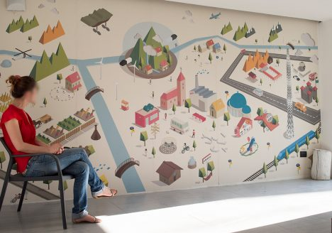 Farm Cultural Park interpreta il wallcovering