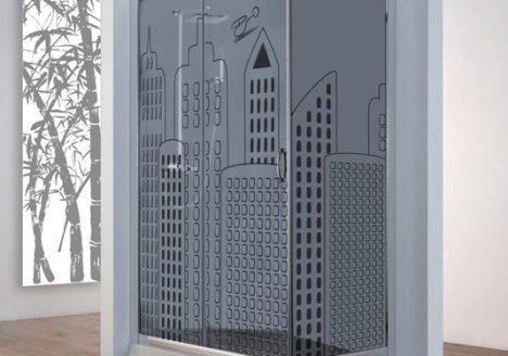 personalizzazione vetro box doccia